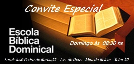 Ebd Parelheiros  Convite Especial