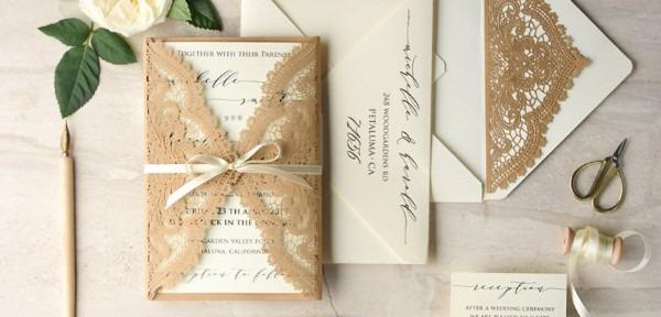 35 Ideias De Convites De Casamento Clássicos Para Você Se Inspirar