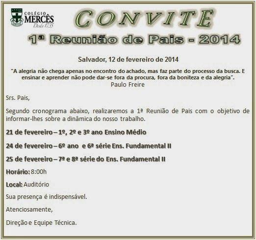 40 Convites Para Reunião De Pais – Modelos De Convite