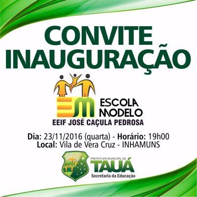 Prefeitura De Tauá Inaugura Escola Modelo Na Vila De Inhamuns