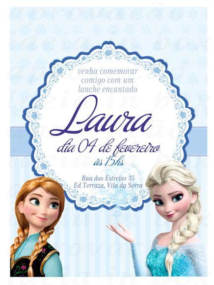 Arte De Convite Virtual Tema Frozen Ou Frozen Fever Envio Por