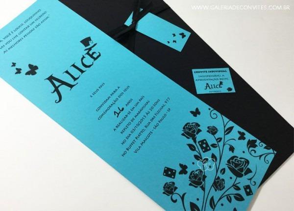 Convite De 15 Anos Alice