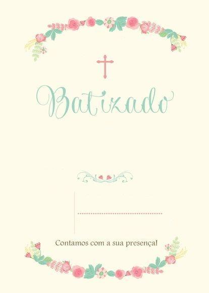 Convite De Batizado  25 Modelos E Frases