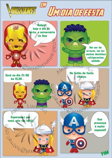 Convite Gibi Os Vingadores Baby