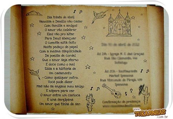 Convite Em Cordel