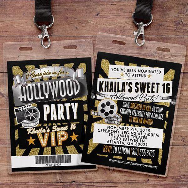 10 Convites Inspirados Em Hollywood Para A Festa De 15 Anos