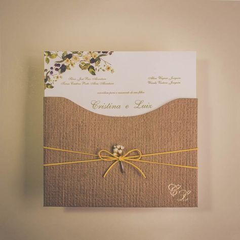Convite De Casamento Campo