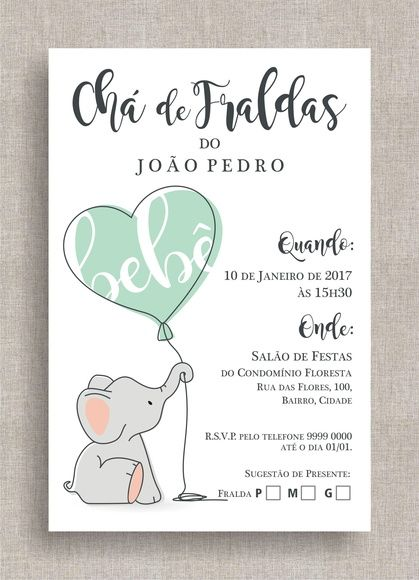 Convite Digital Chá De Fraldas 38