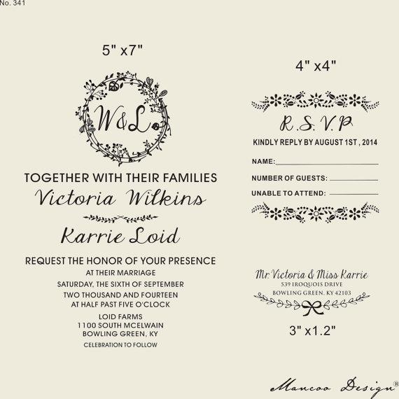 Floral Frames Selo, Selo Do Convite Do Casamento Com Casamento