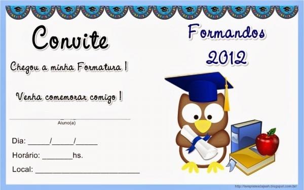Blog Professor Zezinho   Formatura Modelos De Convites E Diplomas