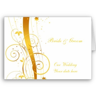 A Beleza Dos Convites De Casamento Dourados
