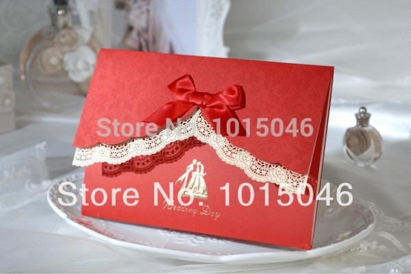 Frete Grátis 20 X Rendas Cartão De Convite De Casamento Com Curva