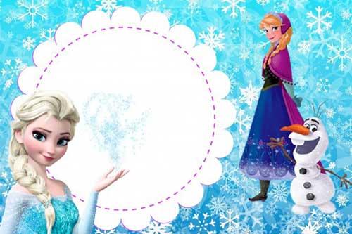 35 Convites Frozen  Diferentes, Simples, Personalizados