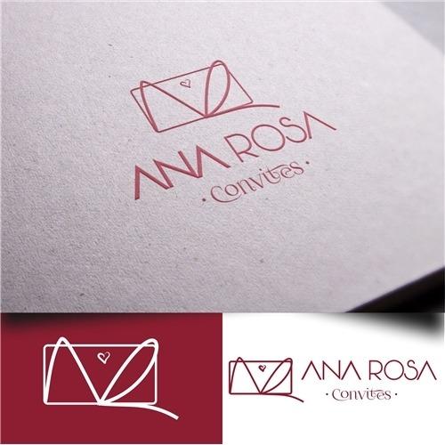 Logo Para Ana Rosa Convites