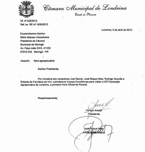 Convite Da Câmara De Londrina Revolta Vereadores De Maringá