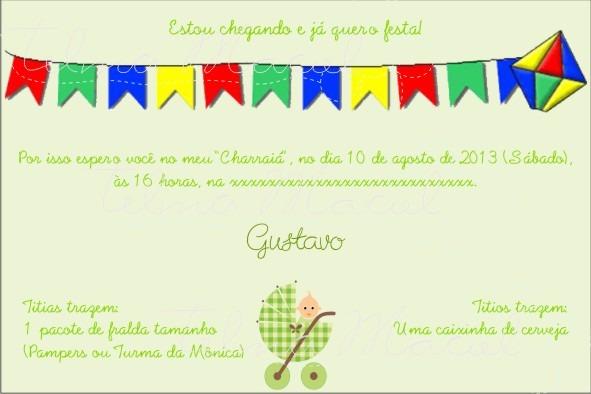 Telma Maciel Design  Convite Para Chá De Bebê