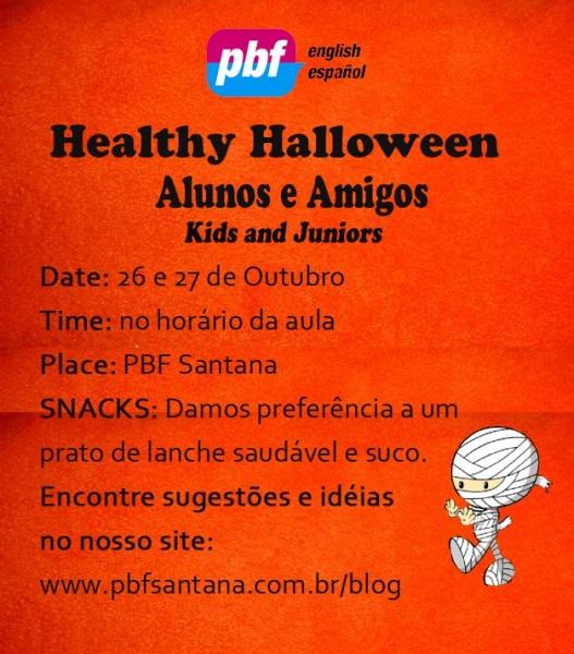 Convite Halloween Kids And Juniors Â« Pbf Santana, Escola De Idiomas