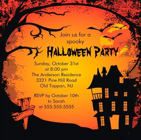 Halloween Convites Idéias