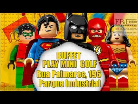 Convite Animado Liga Da Justiça Lego