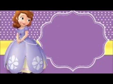 Convite De Aniversário Personalizado, Convite Princesa Sofia
