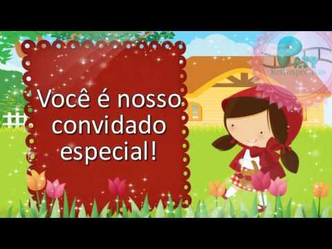Modelo Convite Animado Chapeuzinho Vermelho