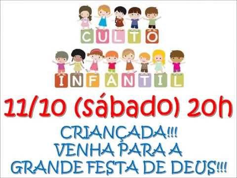 Convite Para Culto Infantil 2014