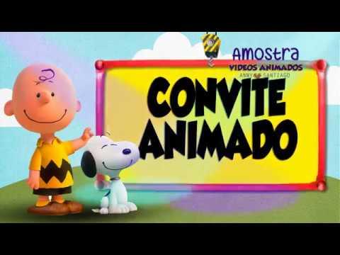 Convite Animado Snoopy Modelo 1