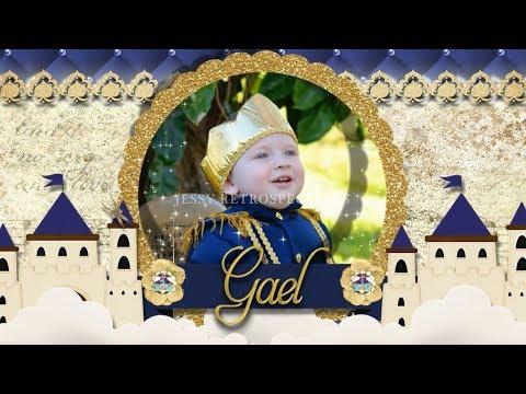 Convite Animado Realeza Azul E Dourado Menino