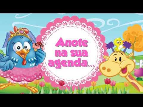 Convite Animado Galinha Pintadinha Rosa