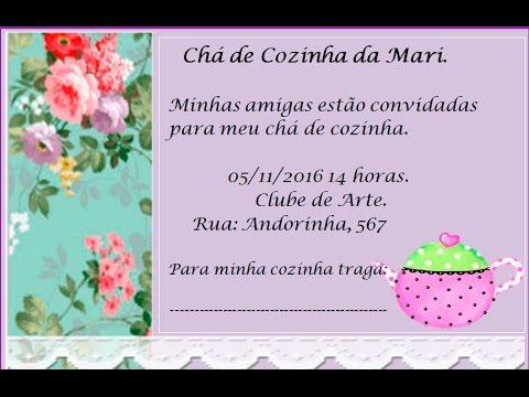 Como Fazer Convite De ChÁ De Cozinha Floral No Word ❤