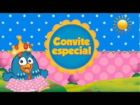 Convite Galinha Pintadinha Rosa (animado)