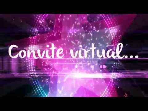 Convite Virtual Tema Néon