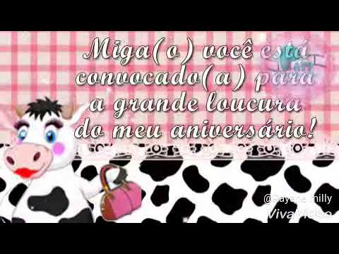 Convite Animado Miga Sua Louca Vanessa 36 Anos