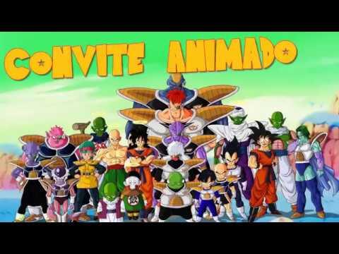 Convite Animado Dragon Ball Z
