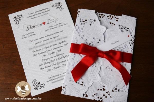 Convite De Casamento Com Arabesco