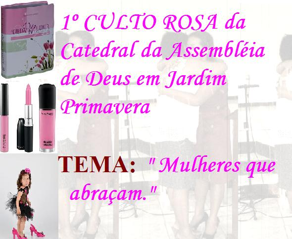 UniÃo Feminina Ufcadjarp  Convites Para Culto Rosa