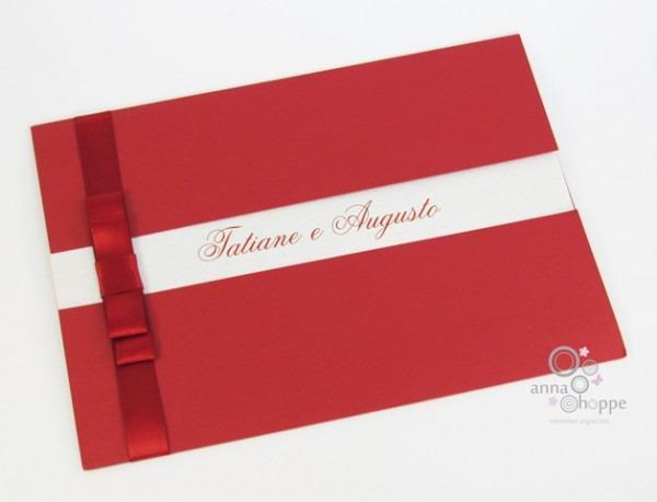 Anna Hoppe Convites Especiais  Convite De Casamento Com Laço Chanel
