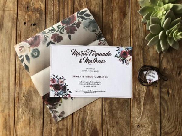 Convite De Casamento Diy Marsala E Azul