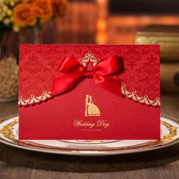 Impressão Livre & Envelope Cartões Do Convite Do Casamento Da Flor
