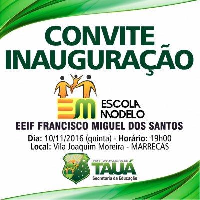 Prefeitura De Tauá Inaugura Mais Uma Escola Modelo