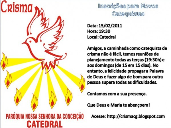 Crisma Catedral  Convite