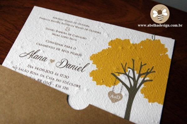 Convite De Casamento Com Ipê Amarelo