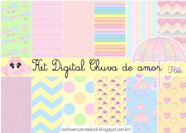 Kit Digital Chuva De Amor