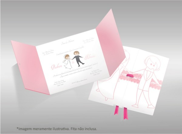 Kit Com 50 Convites De Casamento Personalizados
