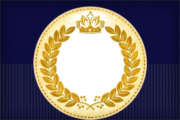 Coroa Príncipe Azul Marinho