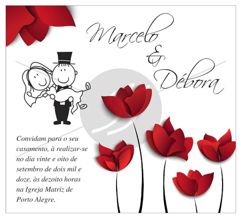 Convites Para Casamento M3182