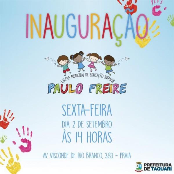 Inauguração Emei Paulo Freire