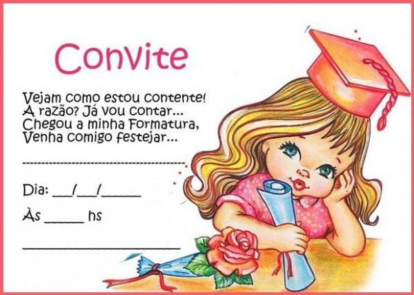 Modelos De Convite Para Formatura Infantil