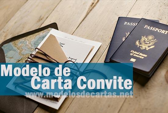 Modelo De Carta Convite Para Viagem