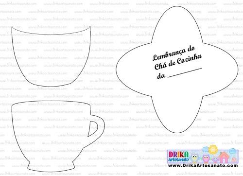 Molde De Lembrança De Chá De Cozinha Em Eva • Drika Artesanato